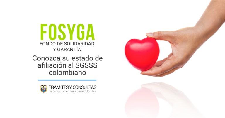 fosyga consulta tu estado de afiliación a la EPS en Colombia a través de la BDUA del estado