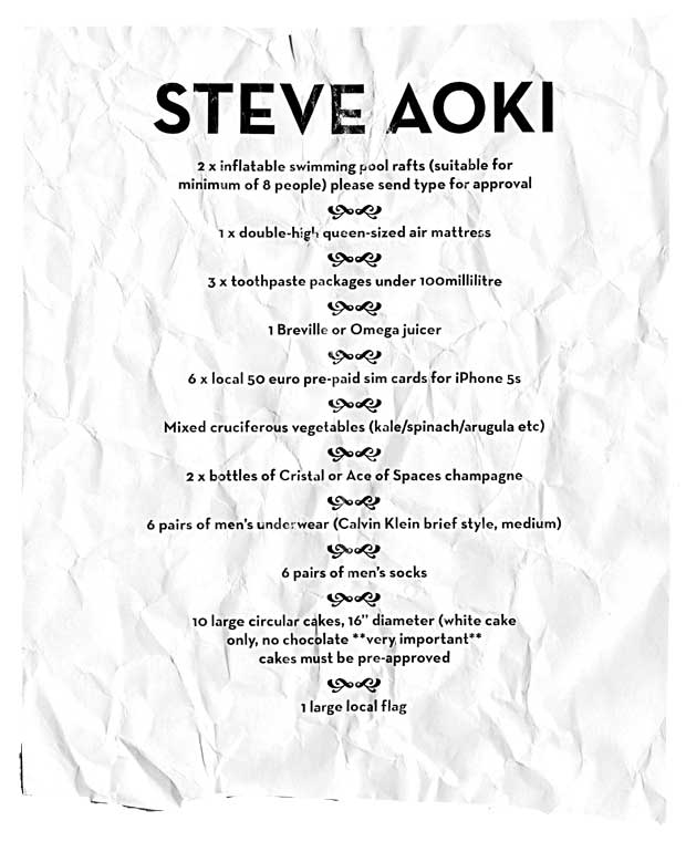 Steve Aoki Creamfields 2014 Rider