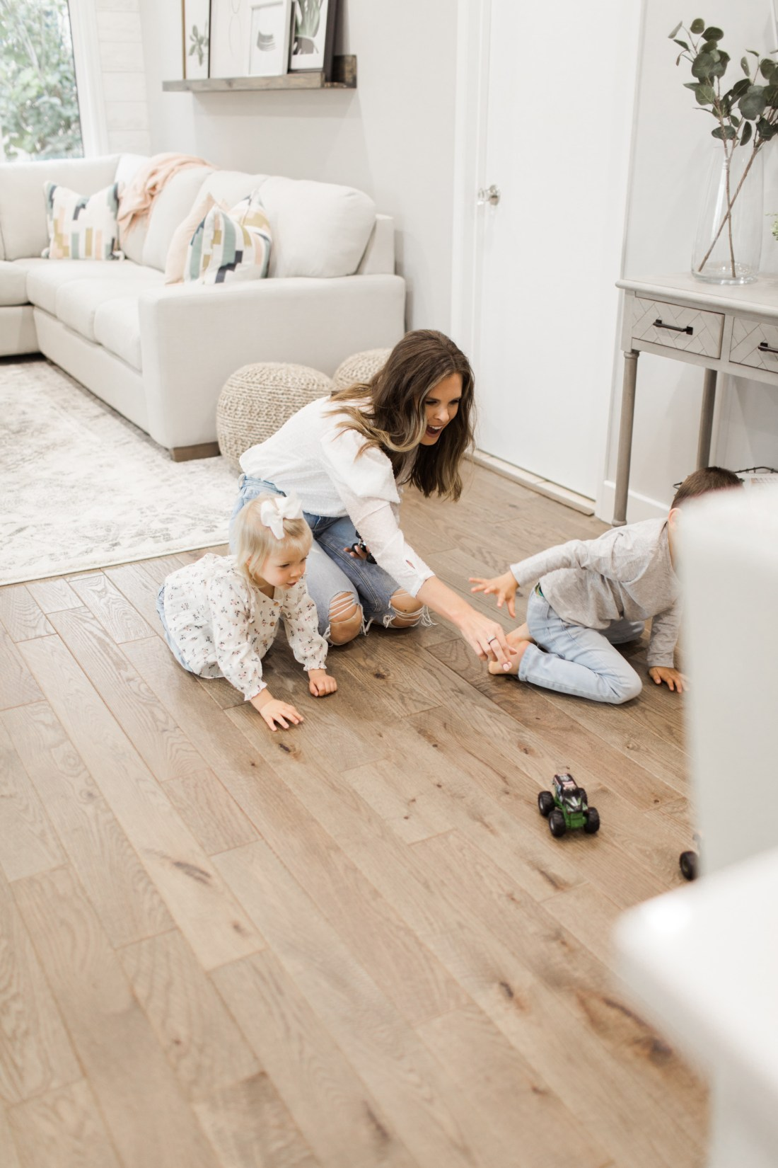 KIds Playing in Family Room
