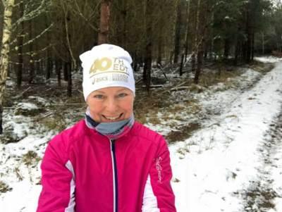 Vinterlöpning på Balsberget.