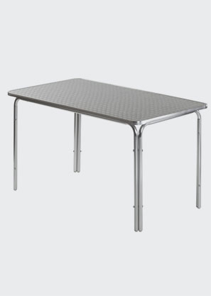 dessus de table acier inoxydable