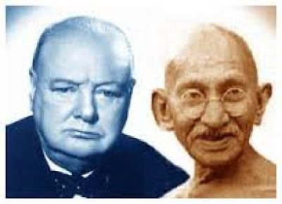 gandhi churchill
