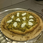Homemade Pizza with Slow Cooked Broccoli and Buffalo Mozzarella - Oct 2015