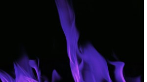 Image Of Purple And Blue Flames