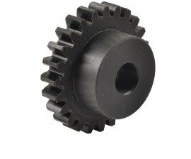 Metric Spur Gears in 30% Glass Filled Nylon 6