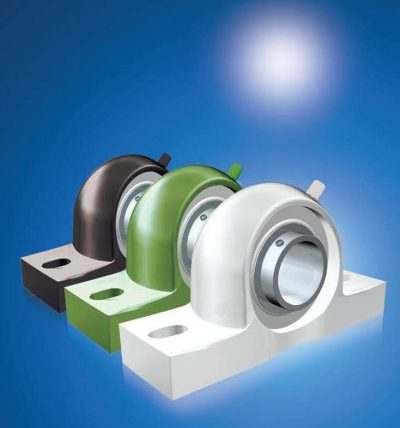 Thermoplastic Bearing Housing Units (4 Colours) with Stainless Steel Inserts