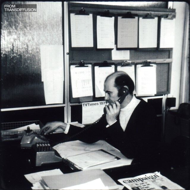 Geoffrey Lugg, Presentation Manager at ABC and then Thames, in 1971
