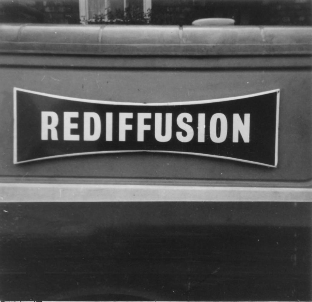 Rediffusion rentals van logo