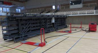 Agnebergshallen Hall Uddevalla,Schweden ELAN TransFlex M mobile Teleskop-TribünenELAN Standworks