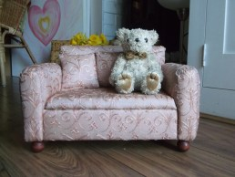 granny sofa, doll sized