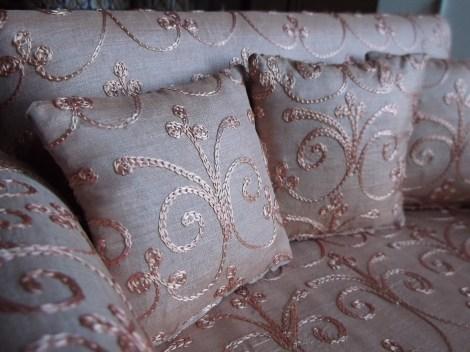 granny sofe, doll sized, cushions