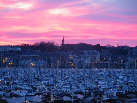 Sunrise in St Malo, France a few days after Christmas