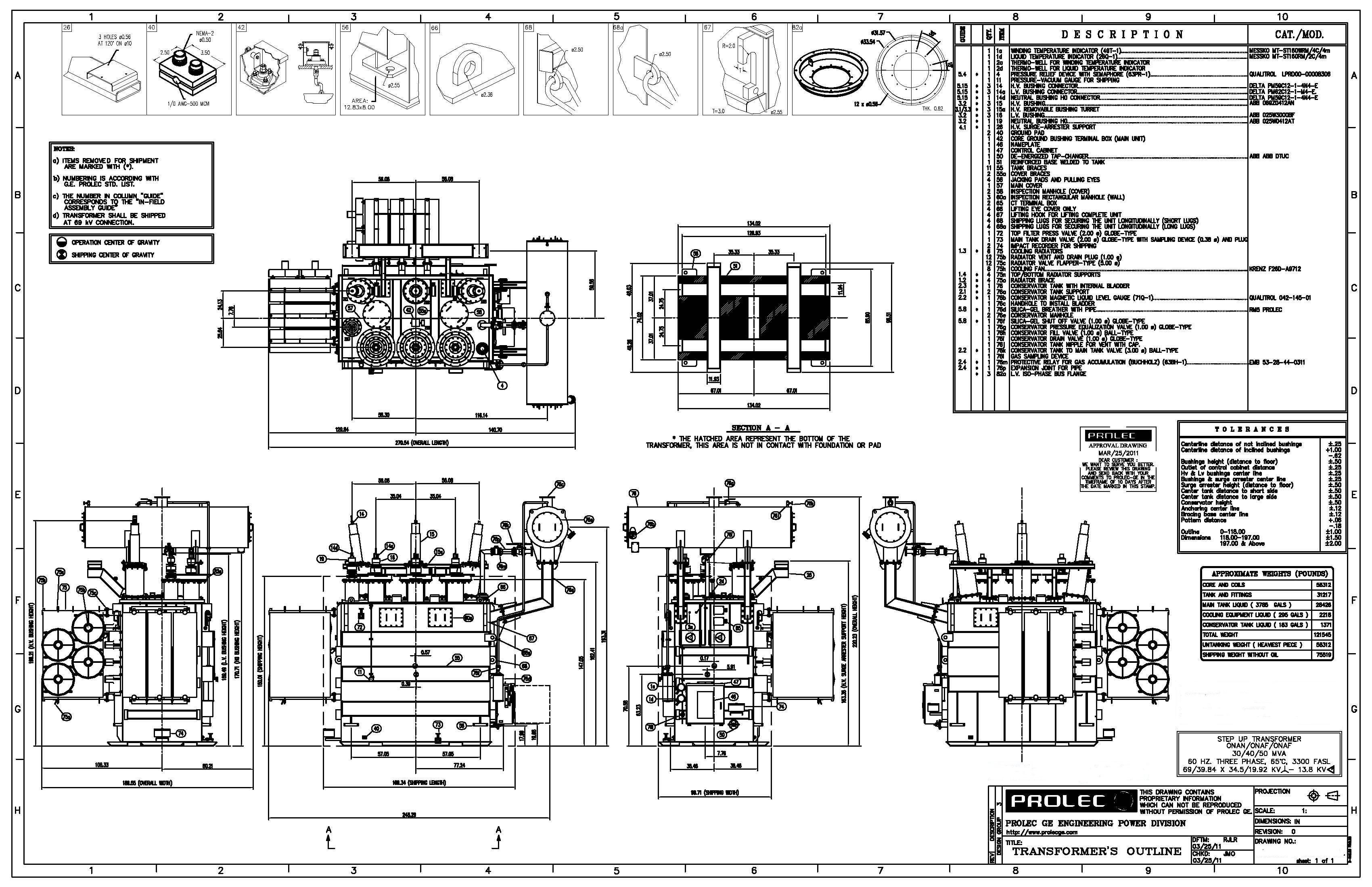 Ge Prolec Generator Step Up Transformer 30 40 50 Mva 69 X 34 5 Kv Wye