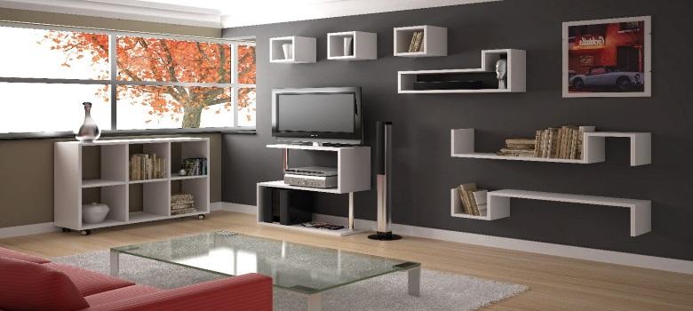 Decora o de sala de estar com estantes como fazer for Mobilia center e confiavel