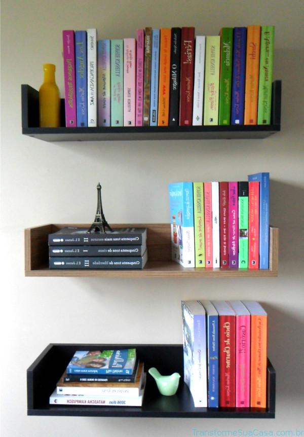 Prateleira para livros – Como escolher (3) dicas de decoração como decorar como organizar