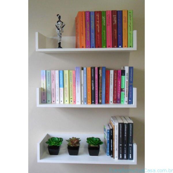 Prateleira para livros – Como escolher (4) dicas de decoração como decorar como organizar