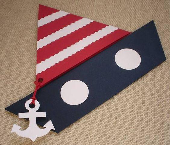 Convite de chá de bebê de marinheiro