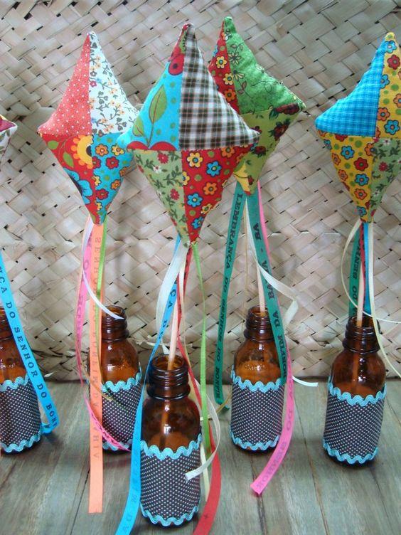 Decoraç u00e3o de festa junina ideias e inspirações incríveis! -> Decoração De Festa Junina Com Materiais Reciclados