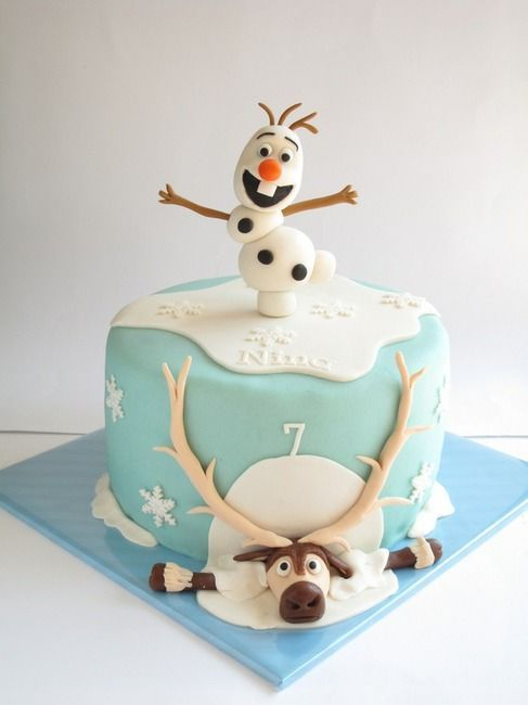 Decoração da Frozen: bolo
