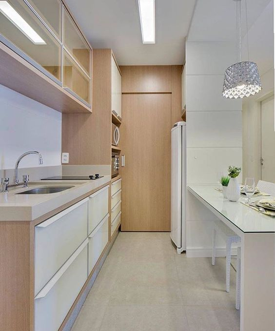 cozinhas corredor ilumine corretamente