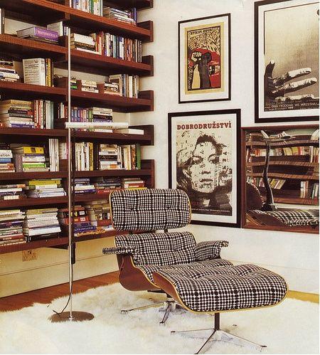 Poltrona Charles Eames para leitura