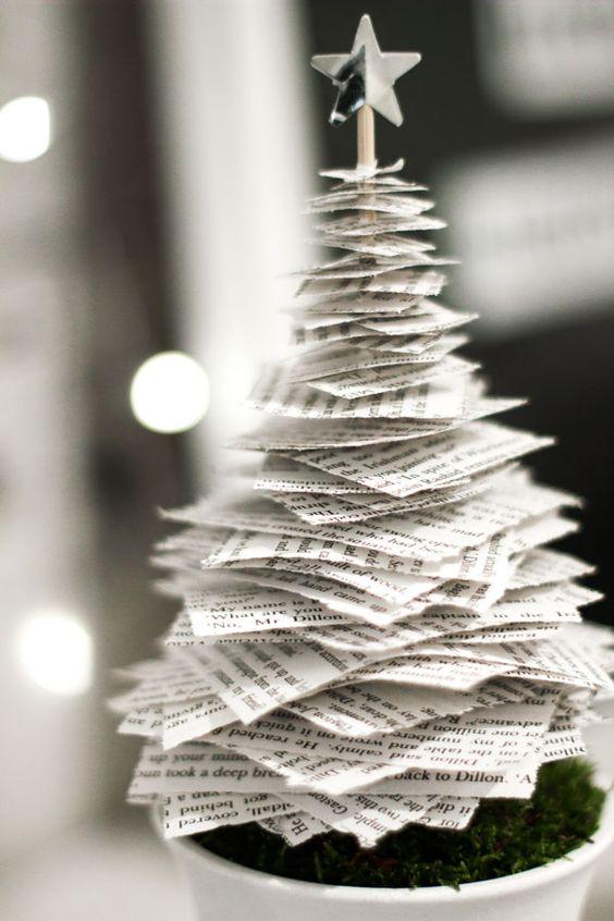 arvore de natal artesanal papel