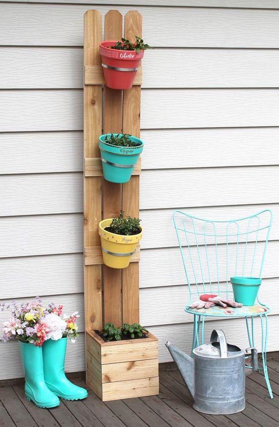 decoracao com pallets jardim