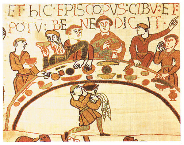 dining hall image in Medieval times, history of medieval food and lifestyle, dining, historical food, historic lifestyle, weaning, eating eel, what is verjuice, what is perry, Four Humors Theory, energetics of foods, medieval medicine