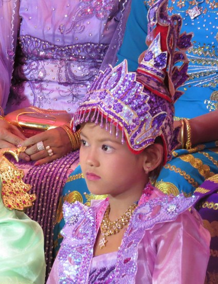 thai boy in rite of passage ceremony, thai boy in life transition, thai boy in coming of age celebration
