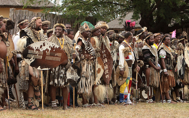 Reed Dance festival of the Zulu people, South African festival, ceremony in culture, celebrating rites of passages
