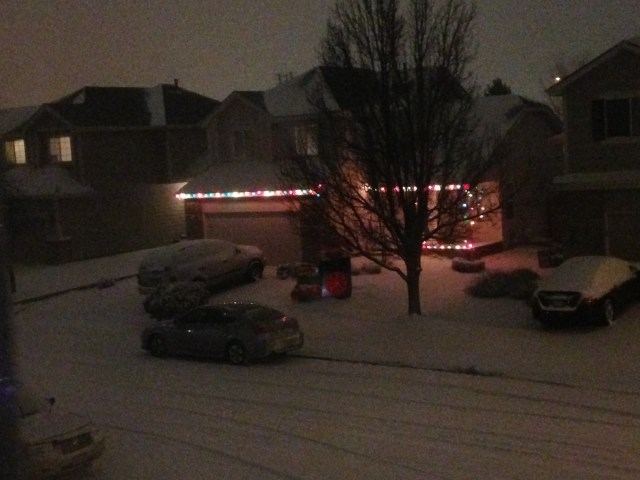 Winter, cold, December, Colorado, chilly, Christmas lights, holiday, Paleo hot chocolate recope, cocoa, high protein
