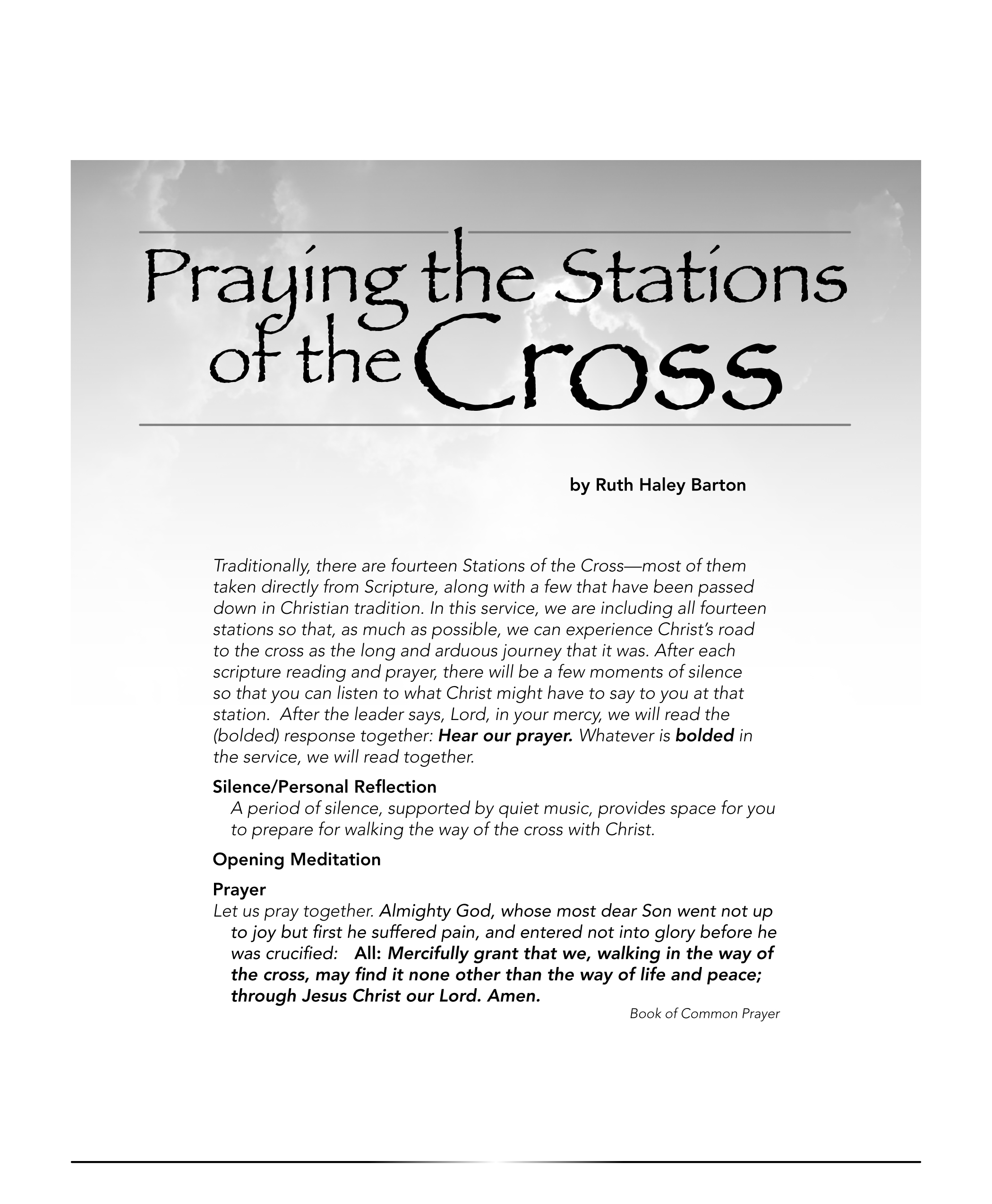 Stations Of The Cross Service Downloadable