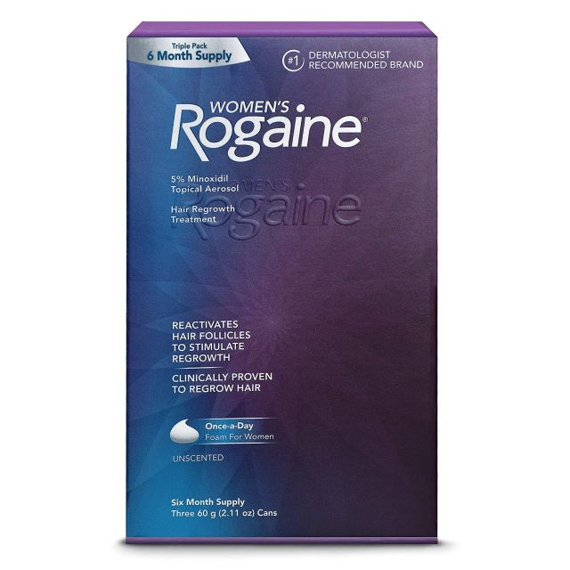 Women's Rogaine 5% minoxidil foam package