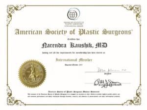 ASPS Certificate