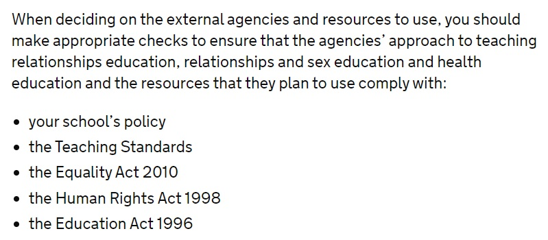 Department for Education RSE guidance