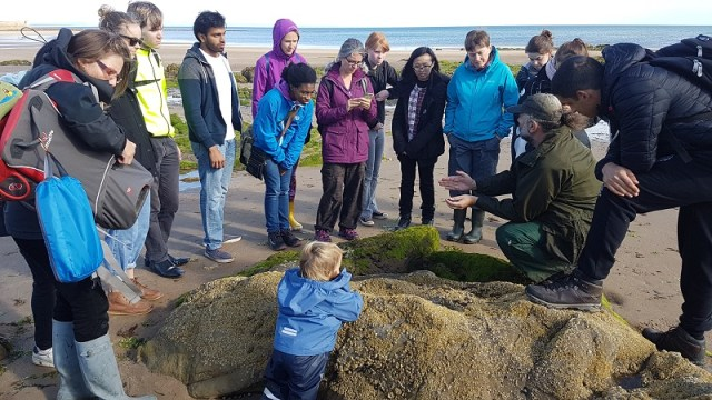 A photo of a group taking part in Beach Foraging Skillshare with Tony Wilson