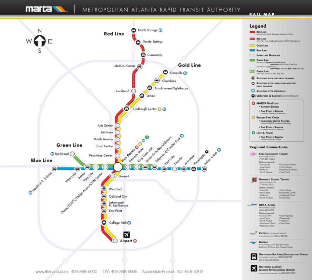 Aiport Icon Subway Map.Transit Maps Official Map Marta Rail System Atlanta Georgia 2011