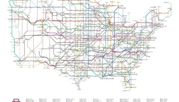 """Transit Maps: New Project: Field Notes Brand """"Mile Marker"""" Map"""