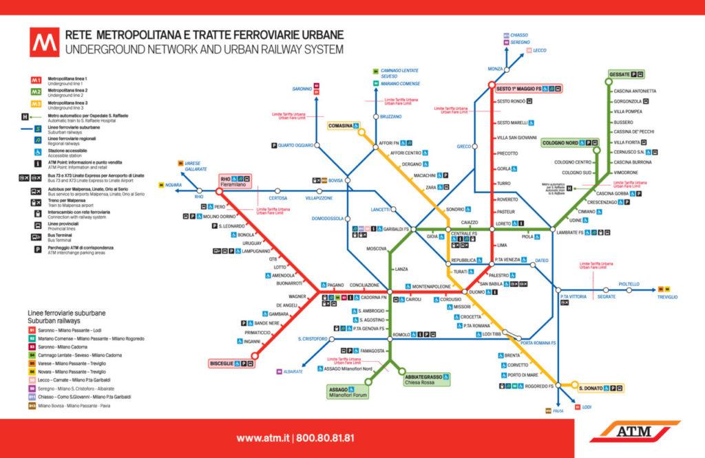 Transit Maps: Official Map: Milan Metro and Suburban Rail Service, 2012