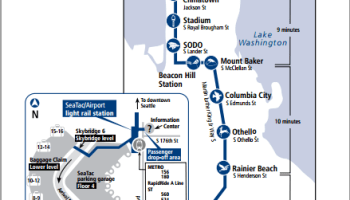 Transit Maps Submission Official Map New Seattle Link Light Rail