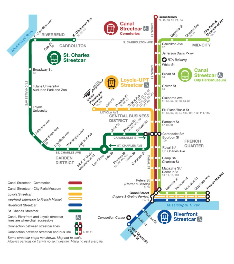 Street Car Map Of New Orleans Transit Maps: Official Map: Streetcar Network, New Orleans, 2013