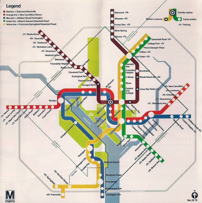 Transit Maps Historical Map Opening Day Washington Dc Metro Map