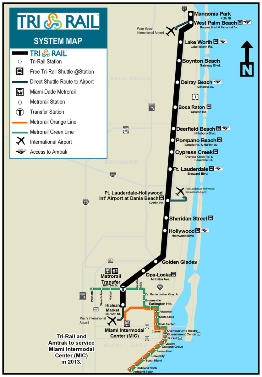 Miami Subway Map Pdf.Transit Maps Official Map Tri Rail Commuter Rail Southern Florida