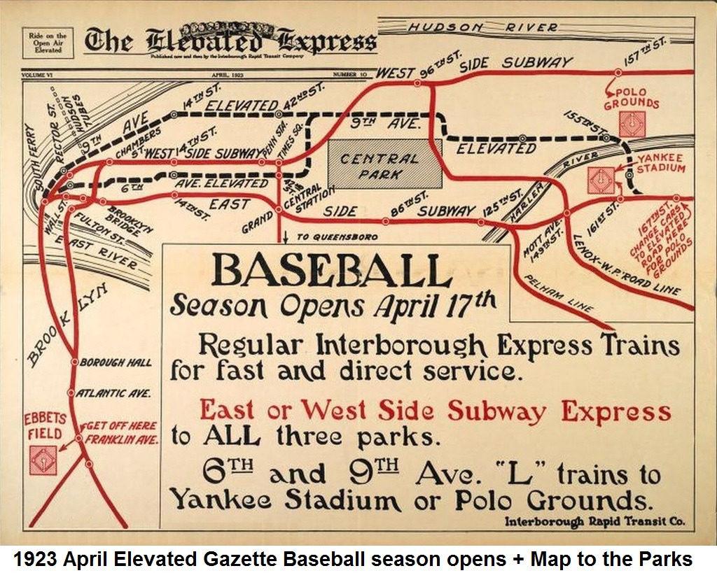 Subway Map Baseball.Transit Maps Historical Map New York Irt Sytem Baseball Season