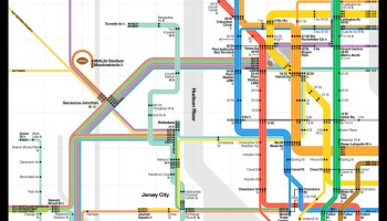 Ny Subway Map To New Jersey.Transit Maps Submission Unofficial Map Subway Ny Nj By Stewart Mader