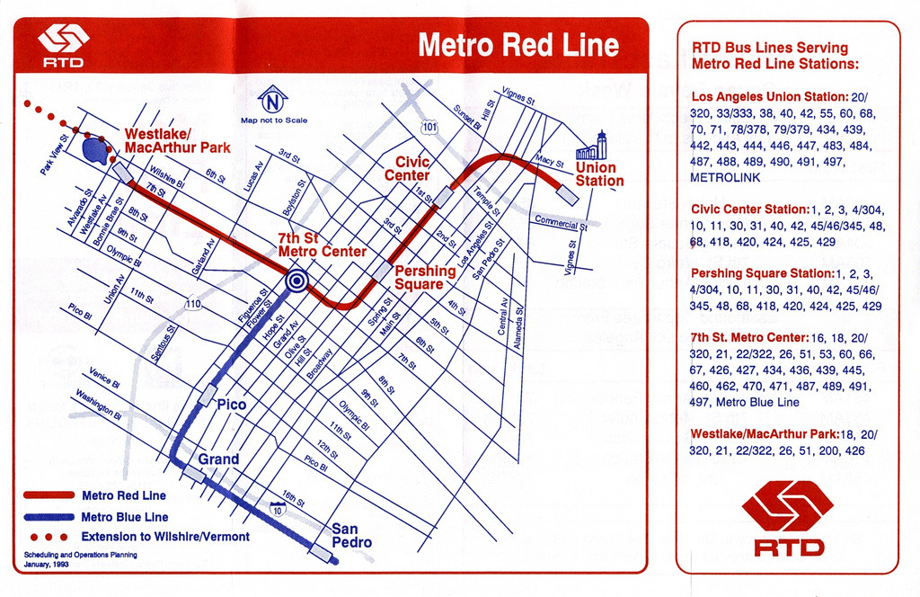 Transit Maps Historical Map Opening Of The Los Angeles Metro Red