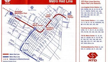 Red Line Los Angeles Subway Map.Transit Maps Historical Map Proposed Los Angeles Metro Rail