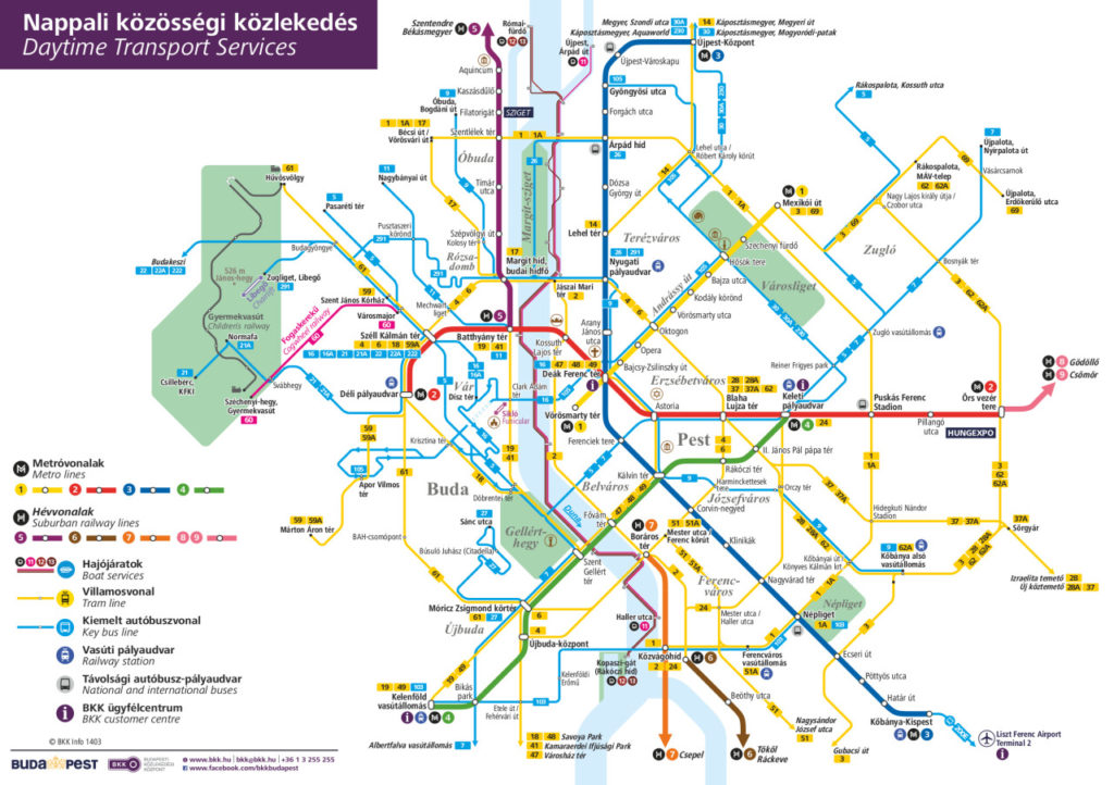 public transport map budapest Transit Maps Official Map Daytime Transport Services Of Budapest public transport map budapest