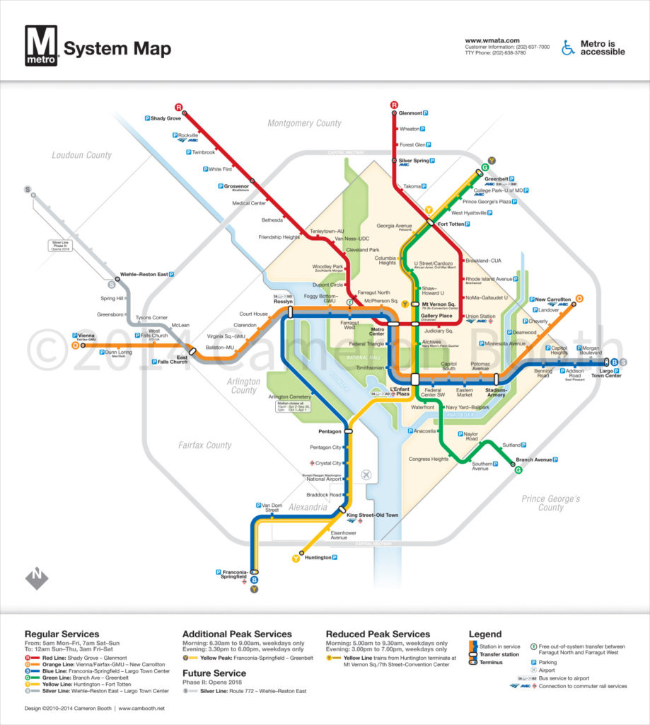 Transit Maps Unofficial Map Washington Dc Metro Map With Silver