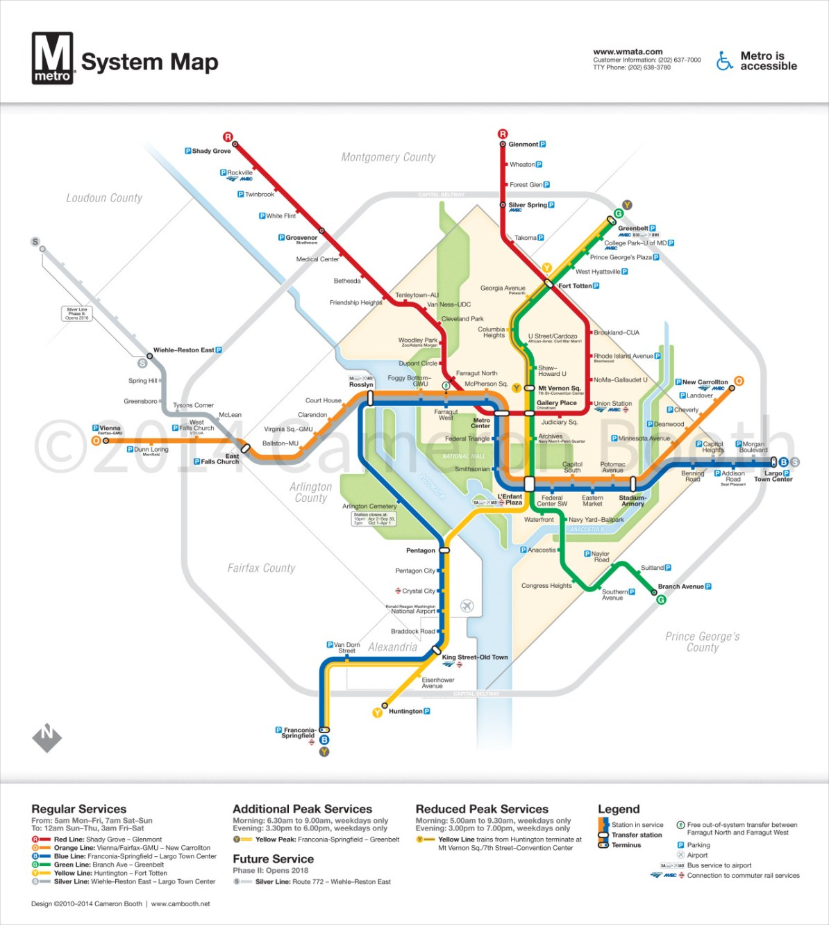 Silver Line Dc Map.Transit Maps Unofficial Map Washington Dc Metro Map With Silver